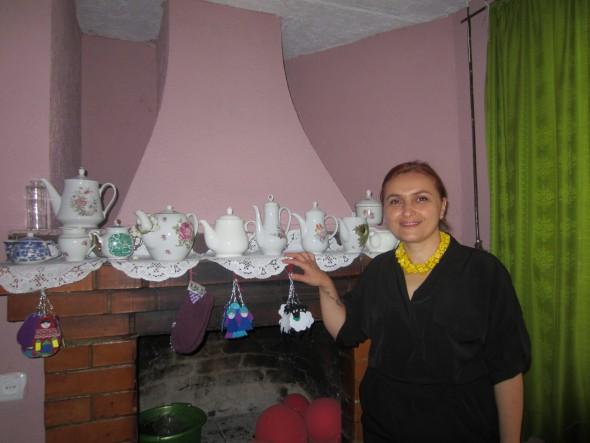 Tamara in art-cafe