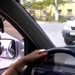 Женщина за рулем на дорогах Цхинвала